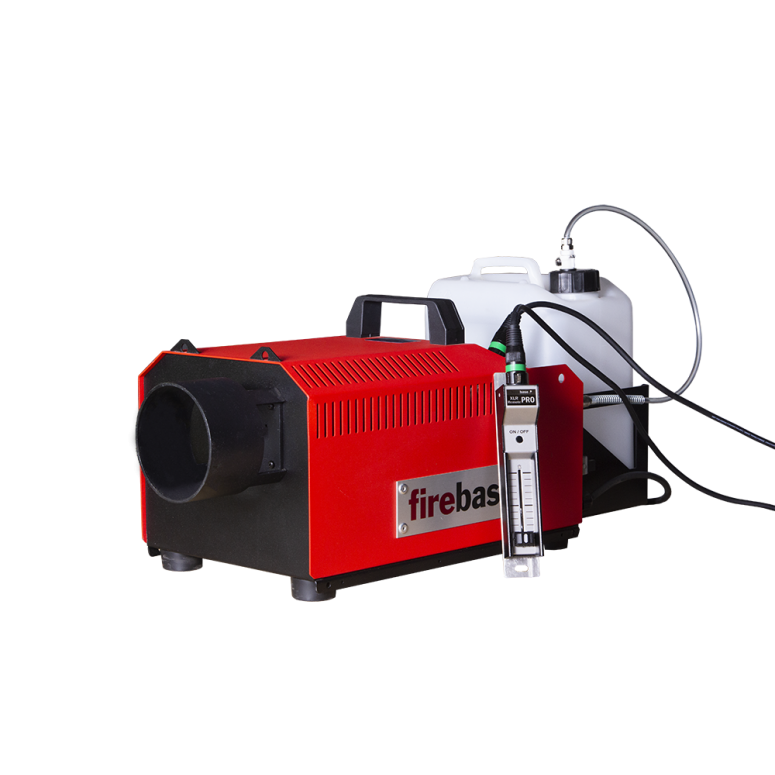 FireBase® SG-2600 - High Powered Extreme Smoke Generator - 60,000CFM 2600W - 208V-220V Only -  Package w/ Machine, XLR Remote, XLR Cable and 5L Bottle