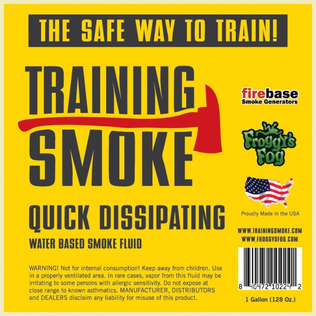 Training Smoke Q - Water Based, Quick Dissipating Smoke Fluid