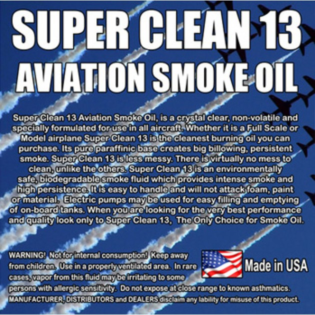 Super*Clean 13 Aviation Smoke Oil - Exact Spec Match to: Texaco Canopus 13 and Shell Vitrea 13